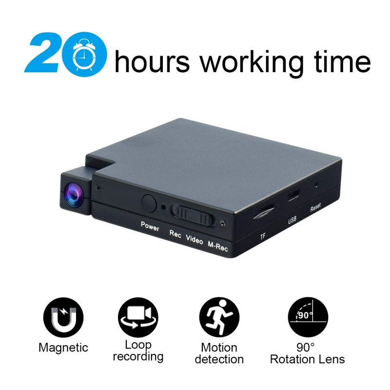 24-Hour Stand-by Sports Camera DV Rotary Camera Multifunctional Portable Camera Driving Recorder Rotary comes with magnetic suction