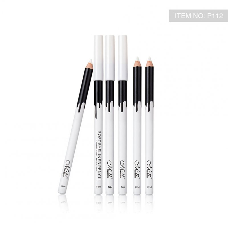 24 Pcs White Eyeliner Smooth Eyes Brightener Eye Liner Pen Waterproof Long-lasting Eyes Liner Pencils 24PCS