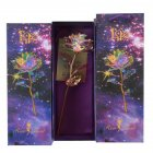 24K Gold Foil Rose Luminous Galaxy Flowers Gifts for Mother's Day Valentine's Day