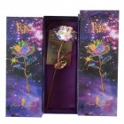 24K Gold Foil Rose Luminous Galaxy Flowers Gifts for Mother s Day Valentine s Day