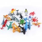 24pcs/Set Children Mini Marine Animal Model Toy Funny Game Education Toy Gift 24pcs