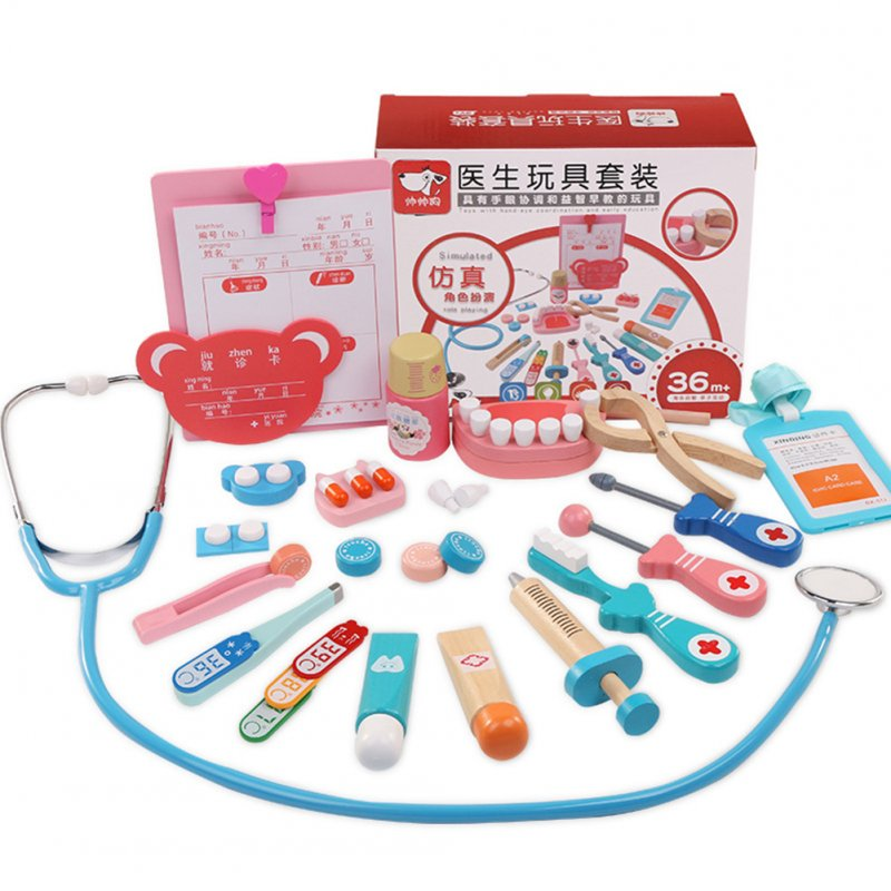 24pcs/set Dentist Toys Out-call Suit Childrens Doctor Toy Set Imitated Medical Kit Medical Toys