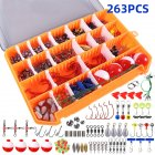 263Pcs/Set Fishing Tackles Box Accessories Kit for Bait Lure Accessoires 263pcs