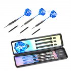 26g 3pcs Copper Safe Dart with Soft Tip Indoor Sport Darts With Colorful Flight for Games  With blue pole + L1