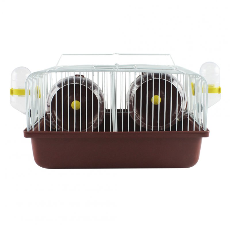 27*20*15CM Eco-friendly Hamster Cage Date Box for Small Hamster Guinea Pigs  Brown_27*20*15CM