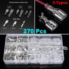 270 Crimp Terminals Insulated Seal Electrical Wire Connectors Crimp Terminal Connector Assortment Kit Silver