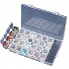 28 Grids Transparent Storage Box with Cover for Nail Art Tools Jewelry Organize Transparent color