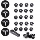 29pcs Wheel Cap Kit for Tesla Aluminum Alloy Center Cap Set 20 Wheel Lug Nut Cover