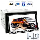 2DIN 7 inch super pixel 800 x 480 resolution touchscreen region free car DVD player featuring Bluetooth has been built for you to enjoy your entertainment