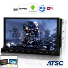 2DIN Android 2 3 Car DVD Player featuring GPS  ATSC and 3G capabilities as well as a detachable 7 Inch LCD front panel that doubles up as a portable tablet