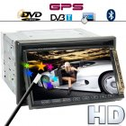 2DIN Car DVD player with a 7inch touch screen display  built in GPS and DVB T capabilities is the ideal passenger to be king of the road