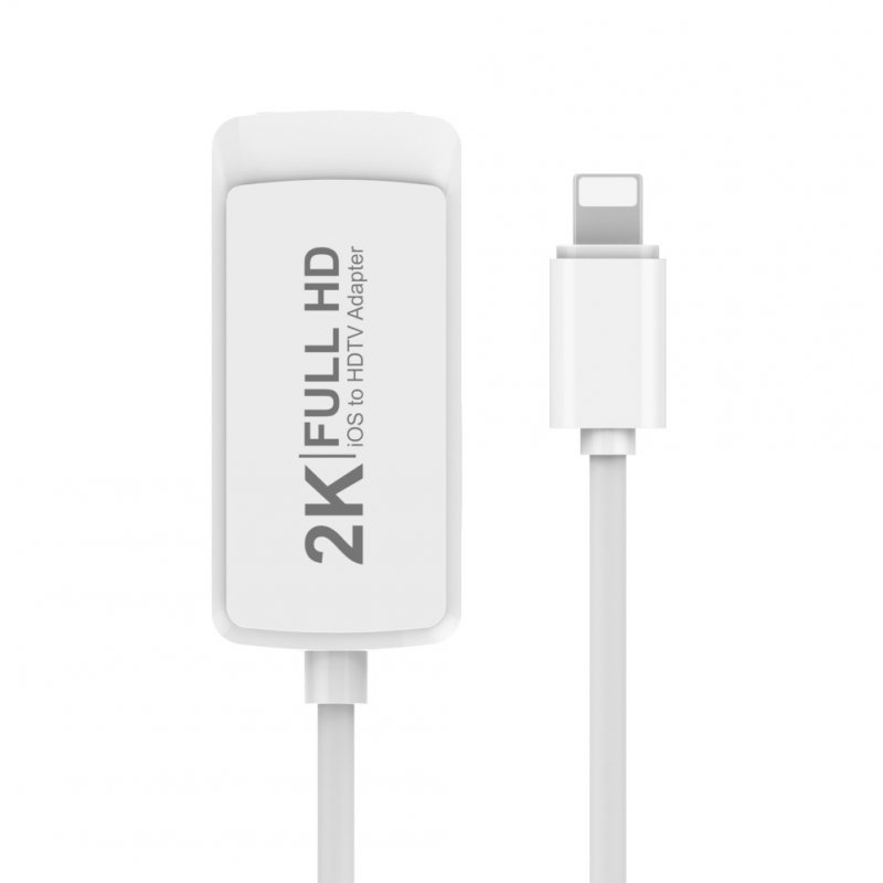 2K to HDMI Adapter for IOS8.0 and above white