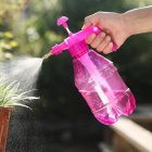 2L Air Pressure Adjustable Garden Spray Bottle Kettle Sprayer for Plant Flowers Watering 1.2L rose red