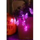 2M 20LEDs Halloween String Light Transparent Finger Fairy Light for Outdoor Garden Party Decor  purple_Battery models