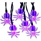 2M 20LEDs Spider Shape String Light Battery Powered Lamp for Outdoor Garden Halloween Decor  purple