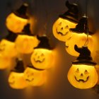 2M/3.8M 10LEDs/20LEDs Pumpkin Shape String Lights Halloween Decorative Props 10led2 battery
