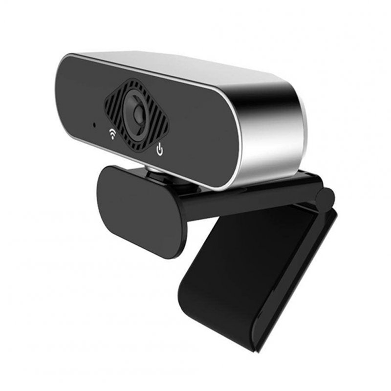 2MP Full HD 1080P USB Web Camera With Integrated Microphone For Video Conference black