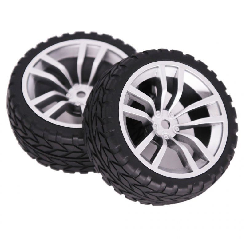 2PCS 1/10 Rubber Tire 62mm Wheel Rim Fit For HSP HPI 9068-6081 RC Car Part  V-shaped hub_2PCS