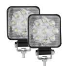2PCS 10-30V 6000K 48W Car LED Light Mini 3 inch Nine beads Square Lamp Off-road Car Headlights