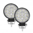 2PCS 10-30V 6000K 72W Car LED Light Mini 3 inch 14 beads Round Lamp Off-road Car Headlights Motorcycle Spotlights