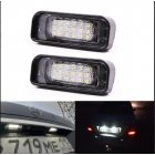 2PCS 18LED License Plate Light For Mercedes-Benz W220 S-class S280 S320 S500 License Plate Light White light