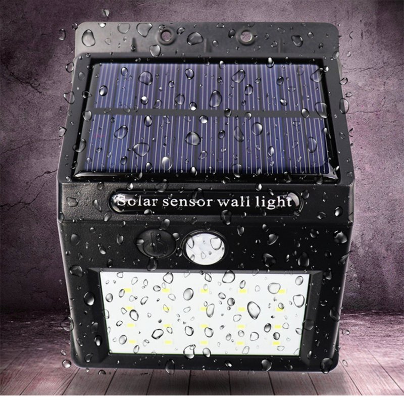 2PCS 5W/20LEDs/25LEDs/30LEDs Solar Charging Human Body Induction Outdoor Waterproof Wall Light 20LEDs