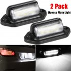 2PCS 6LED 12 24V License Plate Light Car Boat Truck Trailer Step Lamp White light
