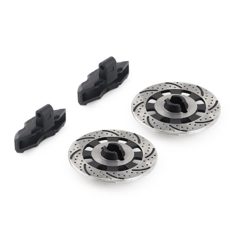 2PCS Aluminium Alloy Metal Brake Disc Drive Hub for 1/7 Traxxas Unlimited Desert Racer UDR 8569 RC Car Accessories F05 black