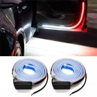 2PCS Car Door Decoration Light Strips Car Styling Strobe Flashing Light Safety 12V LED Opening Warning LED Lamp Strip Waterproof; White+red light