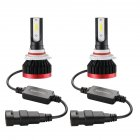 2PCS Mini Led Bulb Car Headlight H11 H1 H8 H9 H3 9005 / HB3 9006 / HB4 100W 20000LM 6000K Car Headlight 6000K white light_9006/HB4