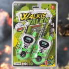 2PCS Mini Wireless Walkie Talkie toys Green