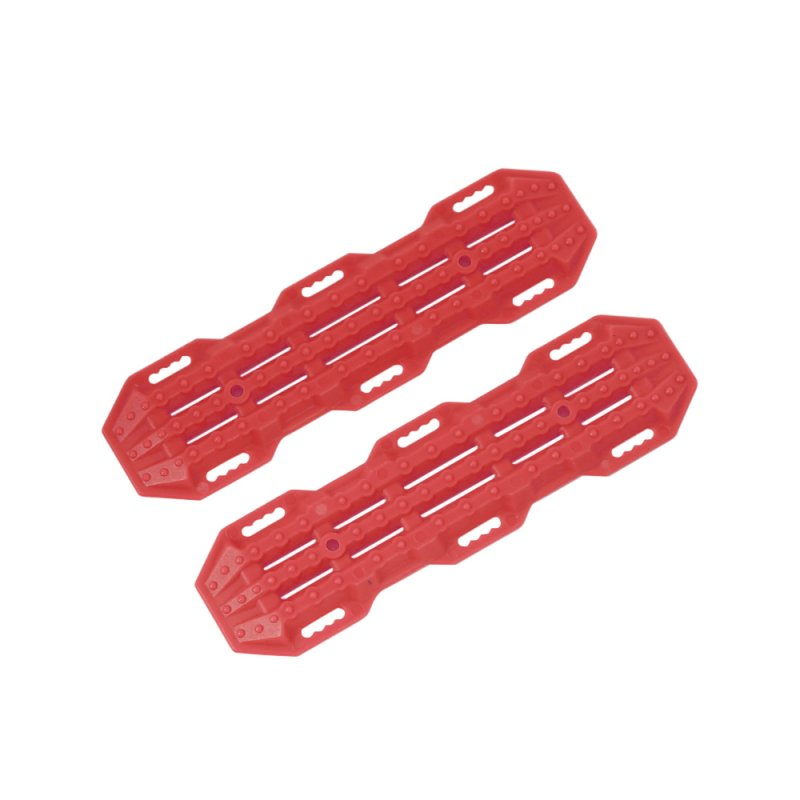 2PCS Plastic Sand Ladder Recovery Board for 1:10 RC Crawler Traxxas TRX-4 Axial SCX10 Tamiya CC01 D90 TF2 MST CFX red