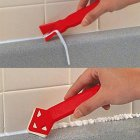2PCS Practical Glue Shovel Scraper for Wall Corner Glass Seam Beautifying Tool  red