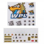 2PCS Stickers Sheet for 1 16 WPL B 1 B16 B14 B16 B24 B36 C14 C14 C34 DIY Decals RC Car Parts as shown