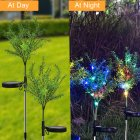 2Pcs 15LEDs Solar Powered Simulate Christmas Tree Shape Lawn Lamp Colors colors
