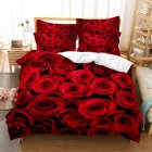 2Pcs/3Pcs Full/Queen/King Quilt Cover +Pillowcase Set with 3D Digital Flower Printing Queen