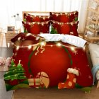 2Pcs/3Pcs Full/Queen/King Quilt Cover +Pillowcase 3D Digital Printing Christmas Series Beeding Set FUll