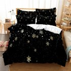 2Pcs 3Pcs Full Queen King Quilt Cover  Pillowcase 3D Digital Printing Christmas Series Beeding Set Queen