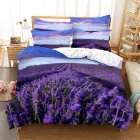 2Pcs 3Pcs Full Queen King Quilt Cover  Pillowcase Set with 3D Digital Flower Printing King