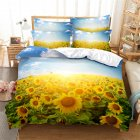 2Pcs/3Pcs Full/Queen/King Quilt Cover +Pillowcase Set with 3D Digital Flower Printing King