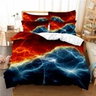 2Pcs/3Pcs Quilt Cover +Pillowcase 3D Digital Printing Starry Series Bedding Set FUll