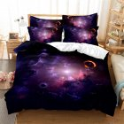 2Pcs/3Pcs Quilt Cover +Pillowcase 3D Digital Printing Starry Series Bedding Set King