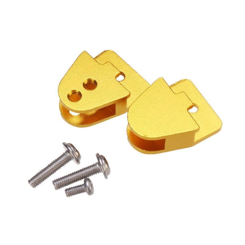 2Pcs Gold Color Metal Earring for WPL B14 B24 B24 1/16 RC Car Gold