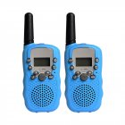 2Pcs Kids Walkie Talkies Toys with Earphones Flashlights Radio for Outdoor Blue