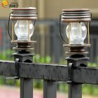 2Pcs LED Retro Solar Hanging Lantern Garden Landscape Lighting Warm light