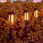 2Pcs LED Solar Flame Lamp Waterproof for Garden Landscape Decor Landscape Lights Solar small torch light
