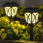 2Pcs LED Solar Lawn Light Garden Pathway Outdoor Landscape Lighting Warm light