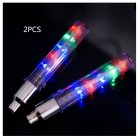2Pcs LED Tyre Tire Valve Caps Wheel Spokes LED Warning Light for Bike  Mountain Road Bicycle Colorful