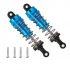 2Pcs Metal Shock Absorber Damper For WLtoys 144001 1/14 4WD Off Road RC Car Parts RC Car Accessories blue_2PCS