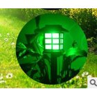 2Pcs Outdoor House Shape Solar Lawn Lamps for Decoration Color light